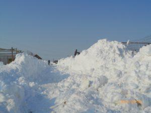 Berge von Schnee